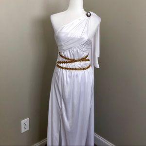 Greek Goddess Costume Sz Sm Gold Detail